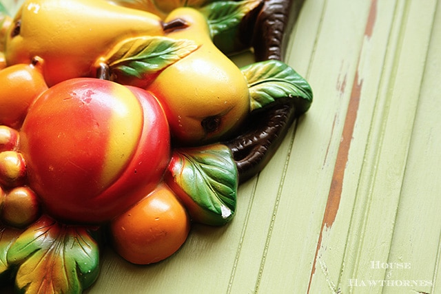 Festive vintage chalkware fruit