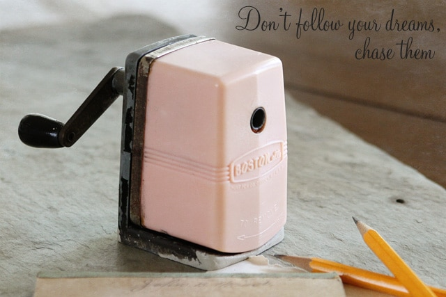 Pink Boston pencil sharpener