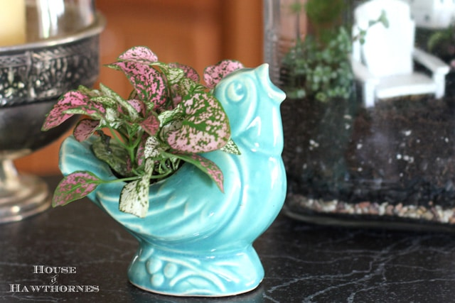 Vintage McCoy blue bird planter