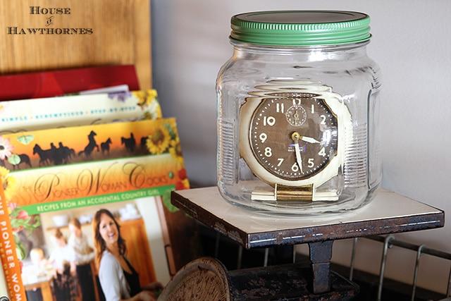Vintage Westclox Baby Ben clock aka saving time in a bottle (or jar)