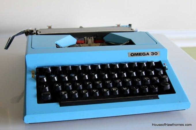 Blue Typewriter Love