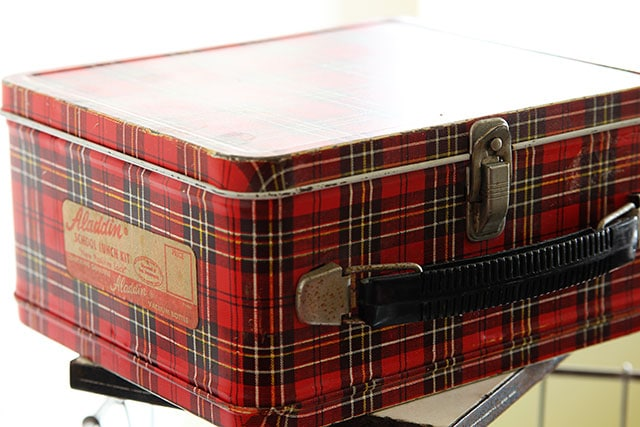 Vintage plaid Aladdin lunch box
