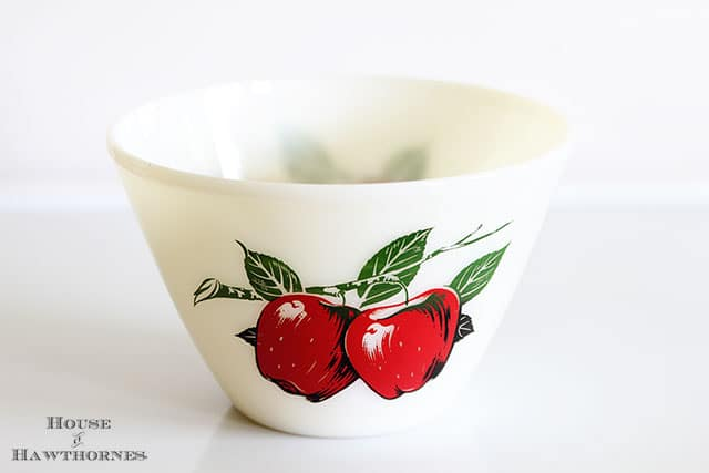 Vintage Fire King Apple Mixing Bowl