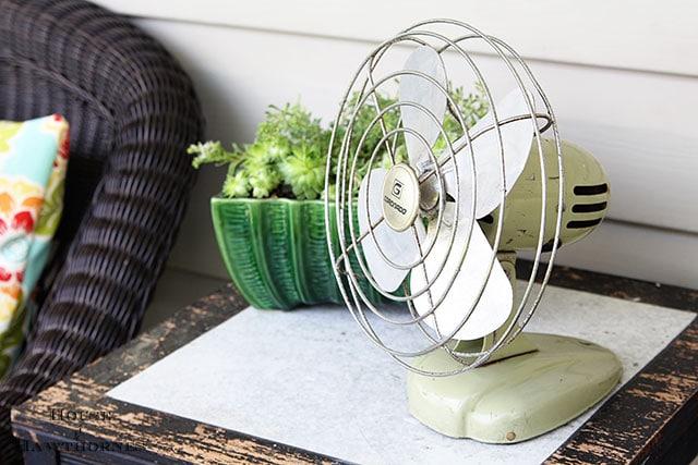 Vintage green Coronado fan