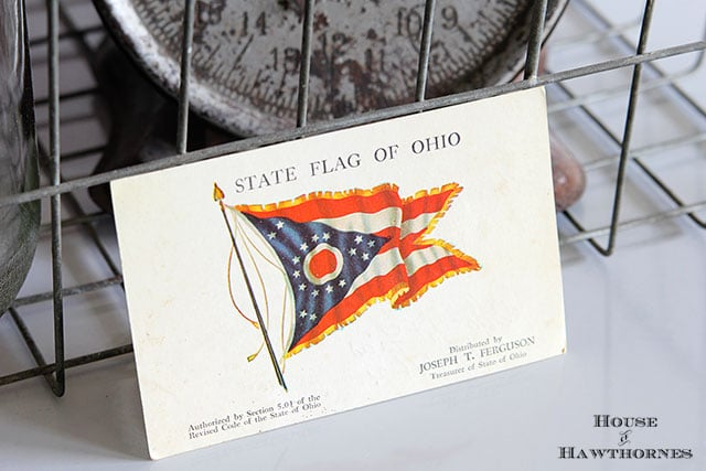 State flag of Ohio postcard from early 1960's