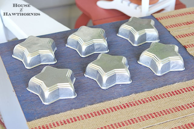 Tin Star Jello Molds Used To Make A Rustic Flag