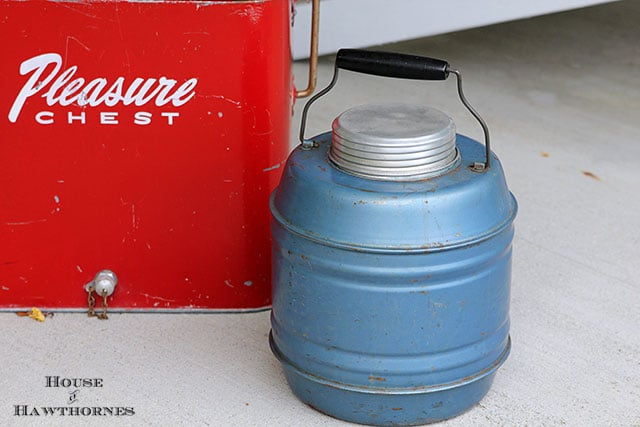 Vintage metal picnic jug