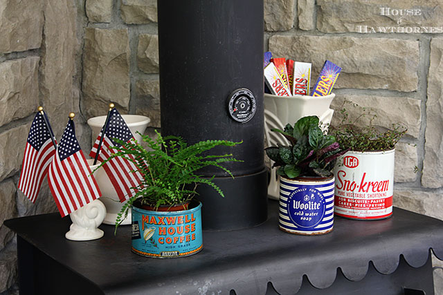 Patriotic home tour at House Of Hawthornes - eclectic collection for the 4th