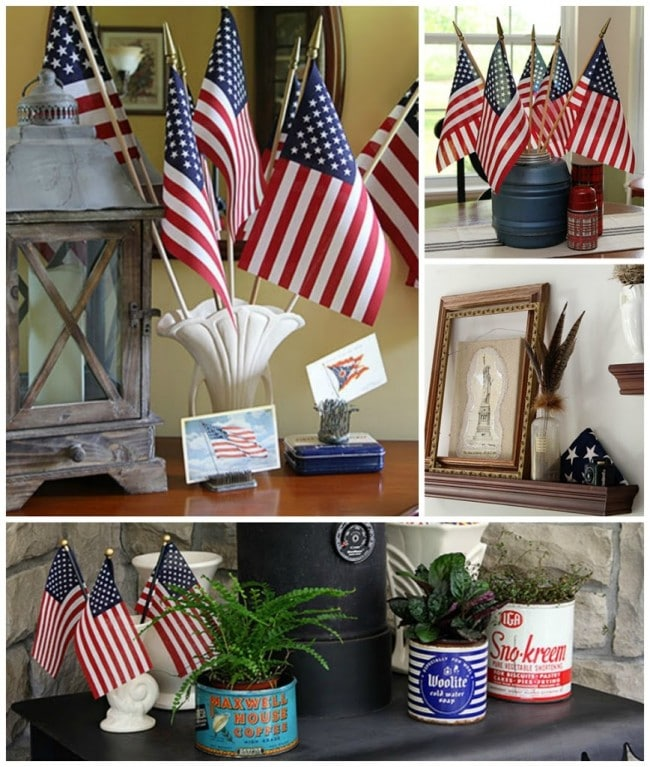 Patriotic home tour at House Of Hawthornes - a vintage eclectic collection for the 4th