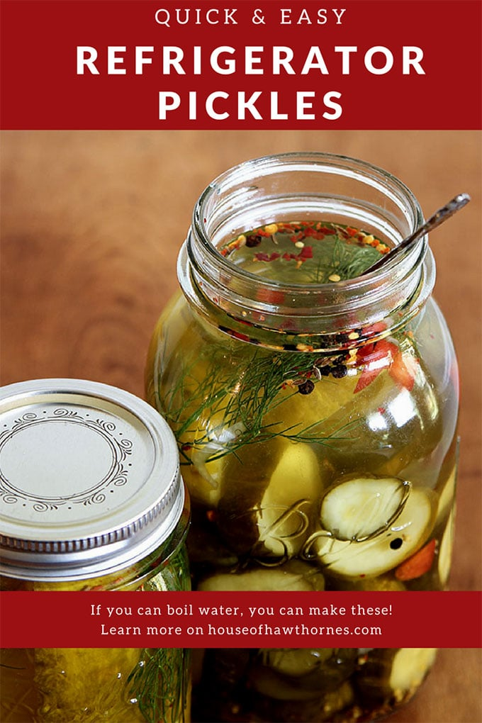 "This easy to make Refrigerator Pickle Recipes is a great way to use extra vegetables from the garden. Homemade crisp and delicious pickles with no ""real"" canning skills required."