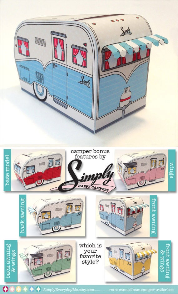 Colleen At Just Paint It Made This Adorable Vintage Camper Printable Wouldnt That Make A Fun T Shirt Iron On