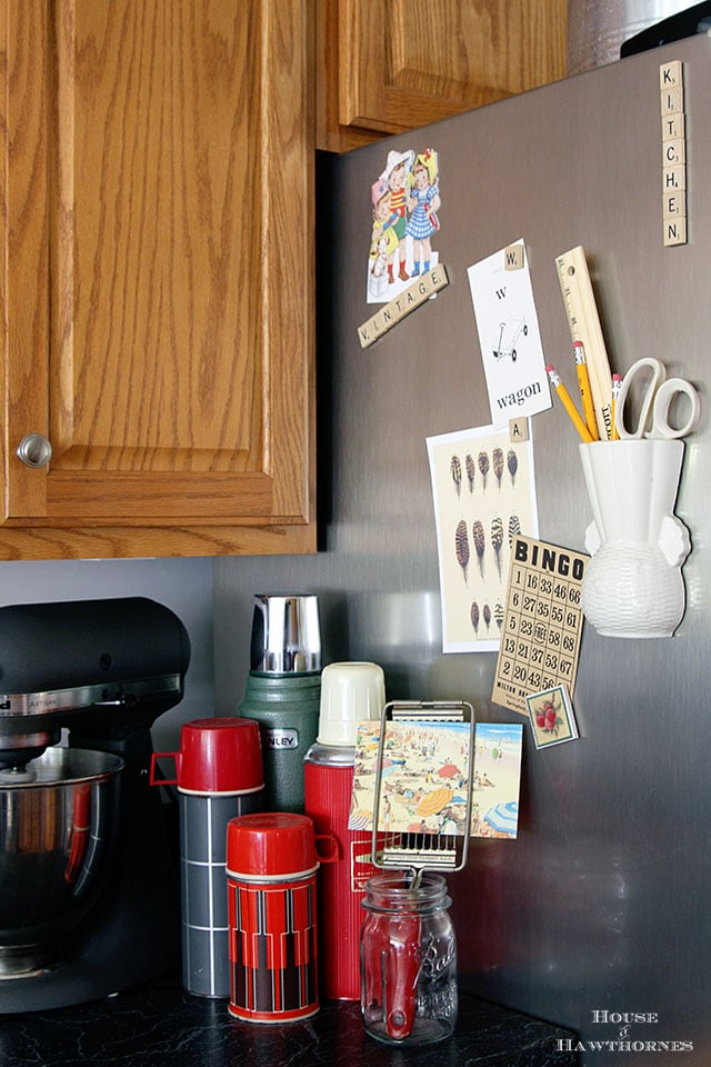 Wall pocket organizer used in the kitchen