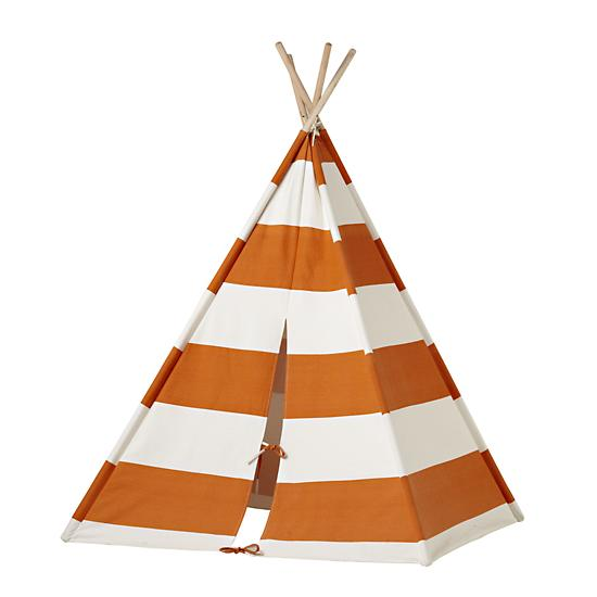 Tent shaped like a teepee for kids