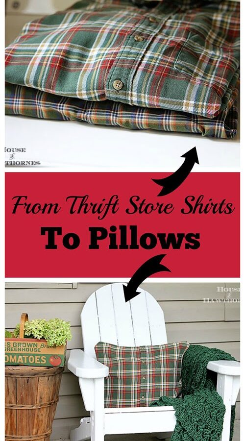 DIY No-Sew Shirt Pillow Tutorial