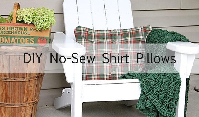Diy No Sew Shirt Pillow Tutorial House Of Hawthornes