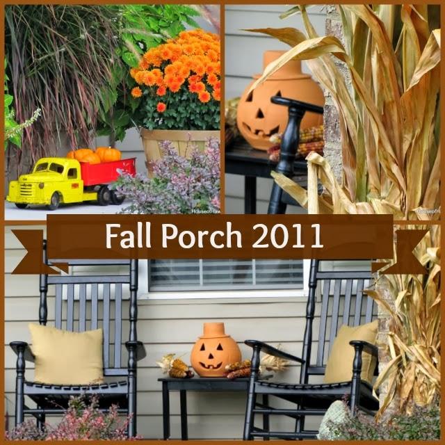 Fall porch decor with a vintage touch @ houseofhawthornes.com