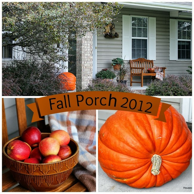 Fall porch decor with a vintage touch @ houseofhawthornes.com