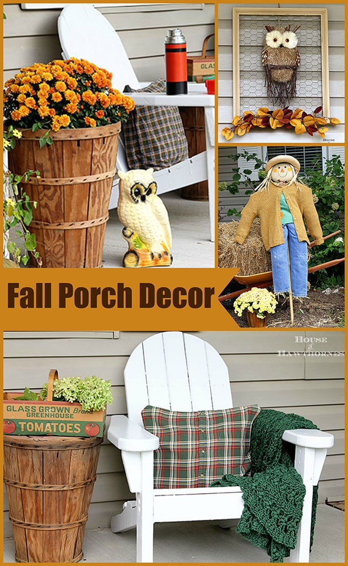 Eclectic Vintage Farmhouse Fall Porch House of Hawthornes
