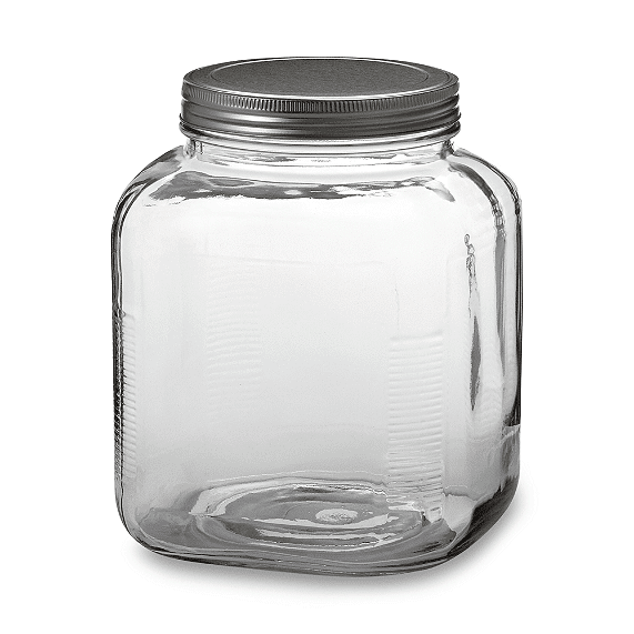 Take a plain Jane Anchor Hocking glass cracker jar and turn it into a vintage thing of beauty :)