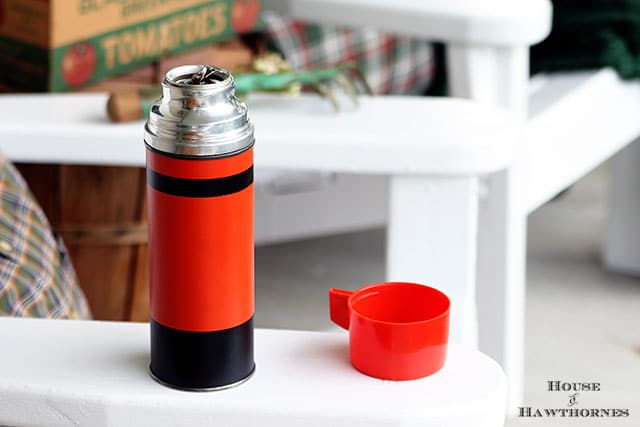 Vintage Halloween Thermos from the Country Living Fair in Columbus Ohio 2014 via houseofhawthornes.com