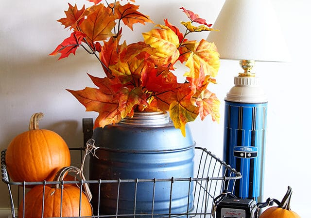 A Thermos Jug Vignette, A Fall Quote And A Winner