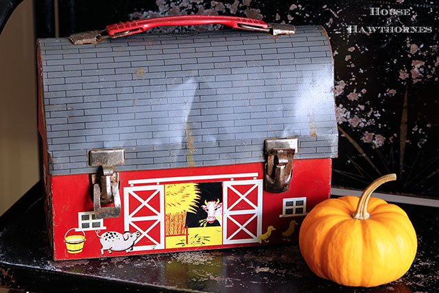 Vintage barn lunchbox by Thermos from the Country Living Fair in Columbus Ohio 2014  via houseofhawthornes.com
