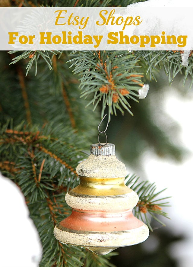 My type of holiday gift guide! A festive collection of Etsy and small online shops for the holiday shopper. A lot of vintage one of a kind gift ideas.