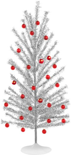 Retro Looking Aluminum Christmas Tree