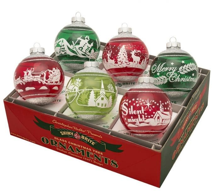 Vintage Inspired Radko Shiny Brite Ornaments