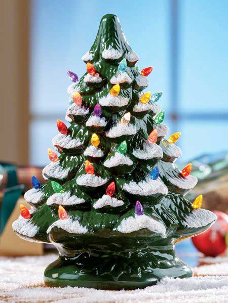 retro ceramic christmas tree - Retro Christmas Trees