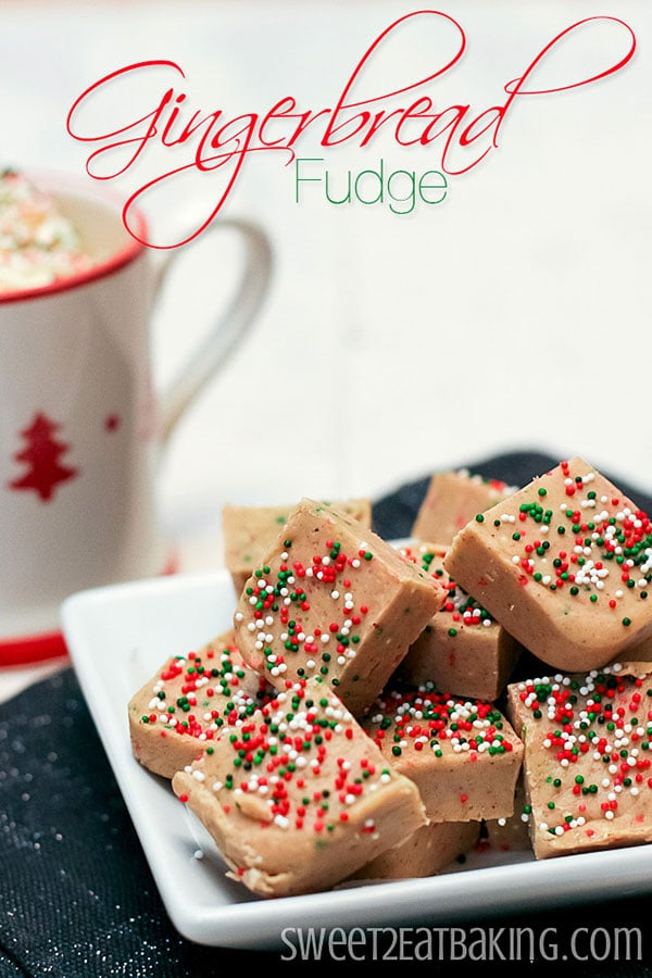 Gingerbread Fudge from sweet2eatbaking.com