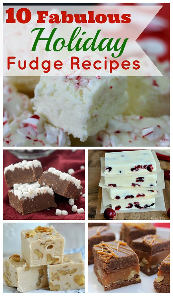 Top 10 Christmas fudge recipes to make for the holidays. And they are all based on traditional Christmas foods! Peppermint Fudge, Snickerdoodle Fudge, Gingerbread Fudge, etc.