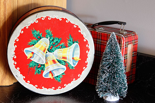 A slightly kitschy Christmas kitchen house tour, filled with an eclectic collection of vintage and thrift store finds for the holidays.