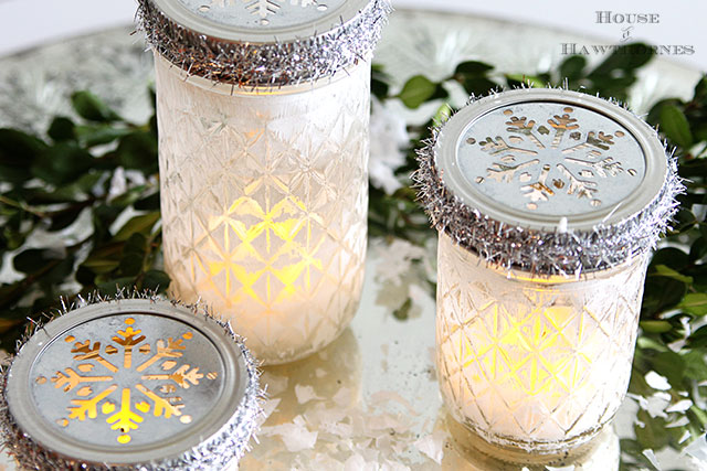 Mason Jar Christmas Luminarias - House of Hawthornes