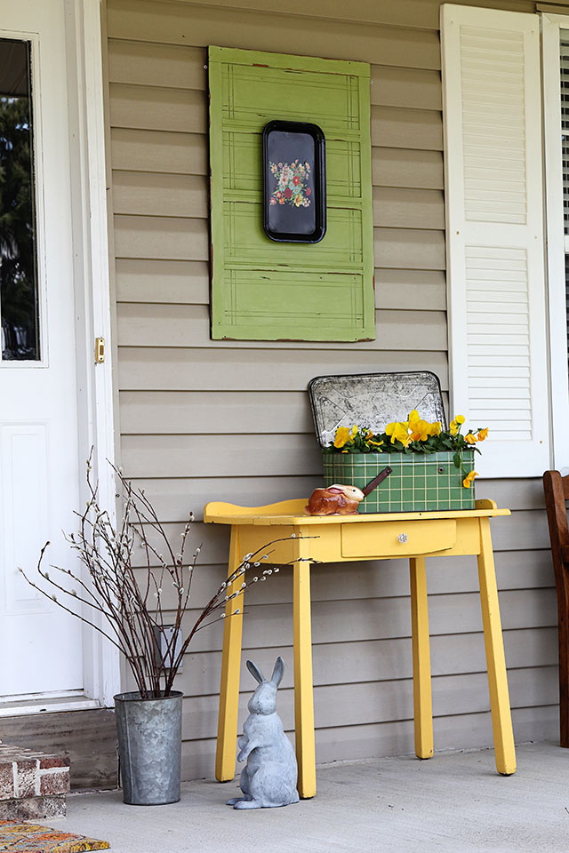 Colorful Spring Front Porch House Of Hawthornes