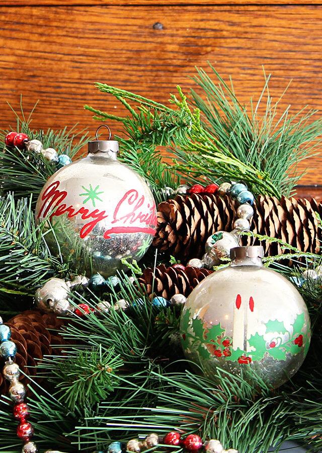 Loving Vintage Christmas Ornaments