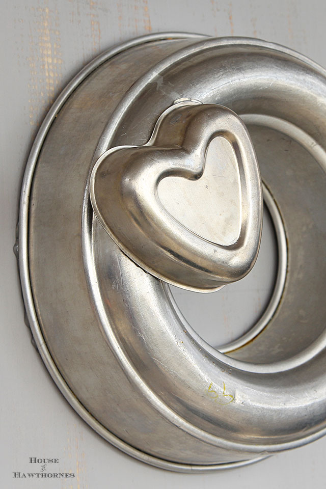 Tin heart shaped jello molds