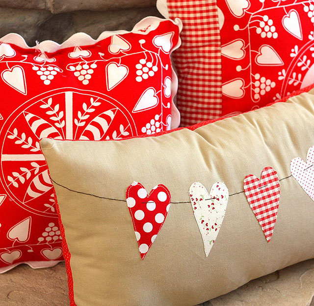Heart Bunting Pillow