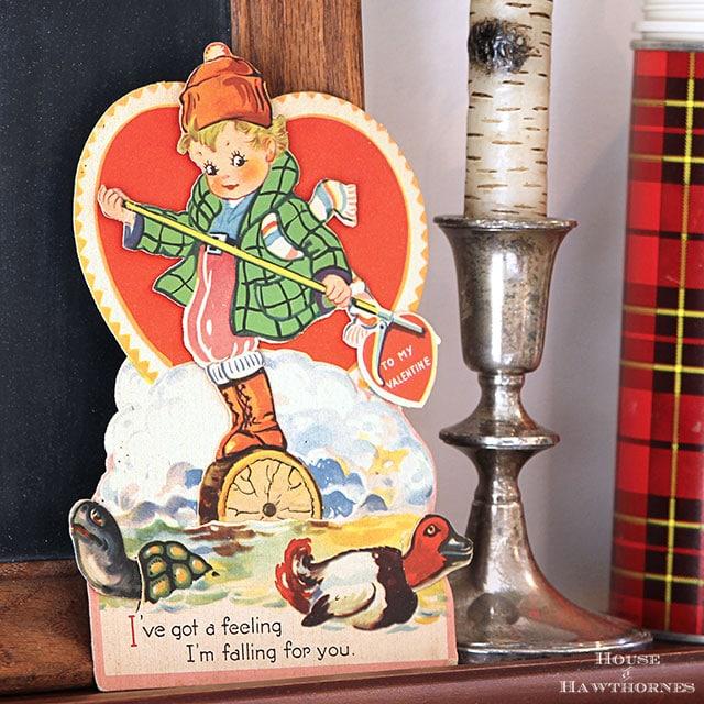 Vintage lumberjack classroom valentine