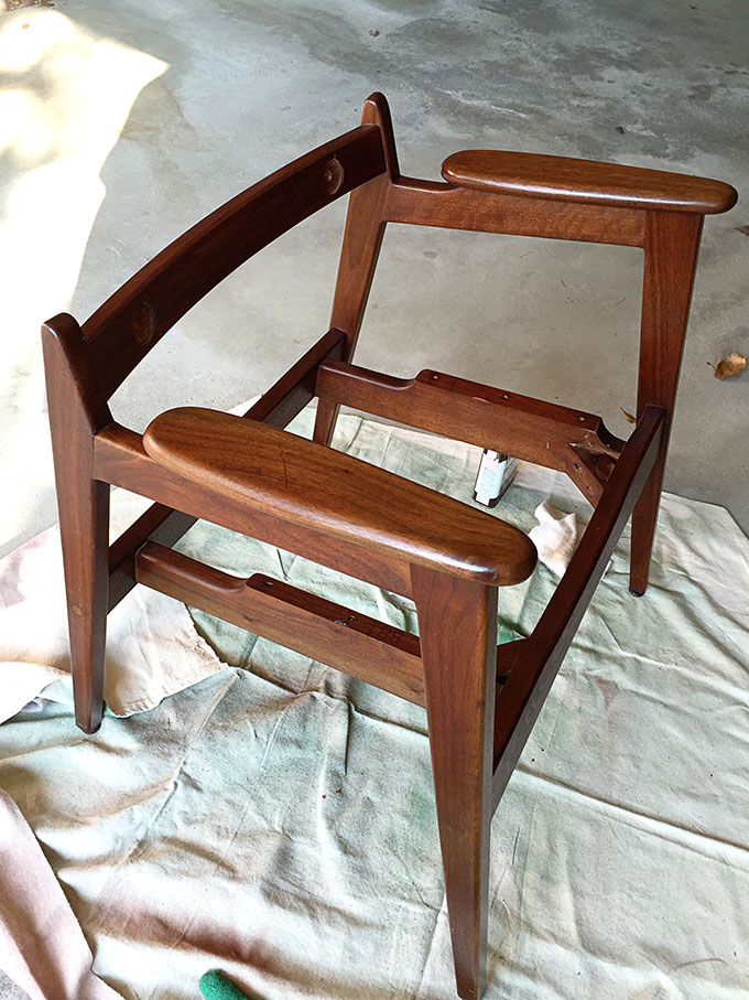 Mid Century Modern Chair Restoration House Of Hawthornes