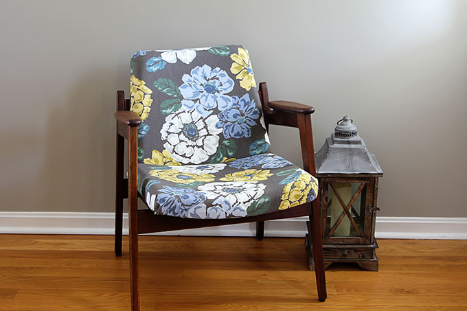 A Fun And Stylish Mid Century Modern Chair Restoration Including  Reupholstering And Wood Refinishing. A