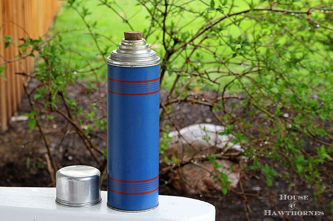 Keapsit Thermos with cork stopper from The American Thermos Bottle Co
