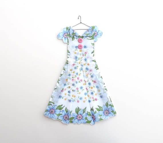 Vintage hanky dress from the Hanky Dress Lady @ thehankydresslady.blogspot.com