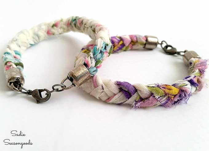 Vintage hankie bracelet DIY craft