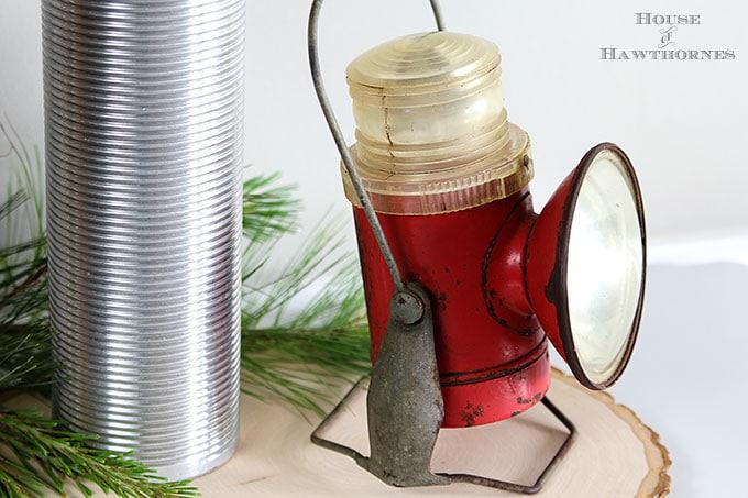Antique Delta Electric Company railroad lantern