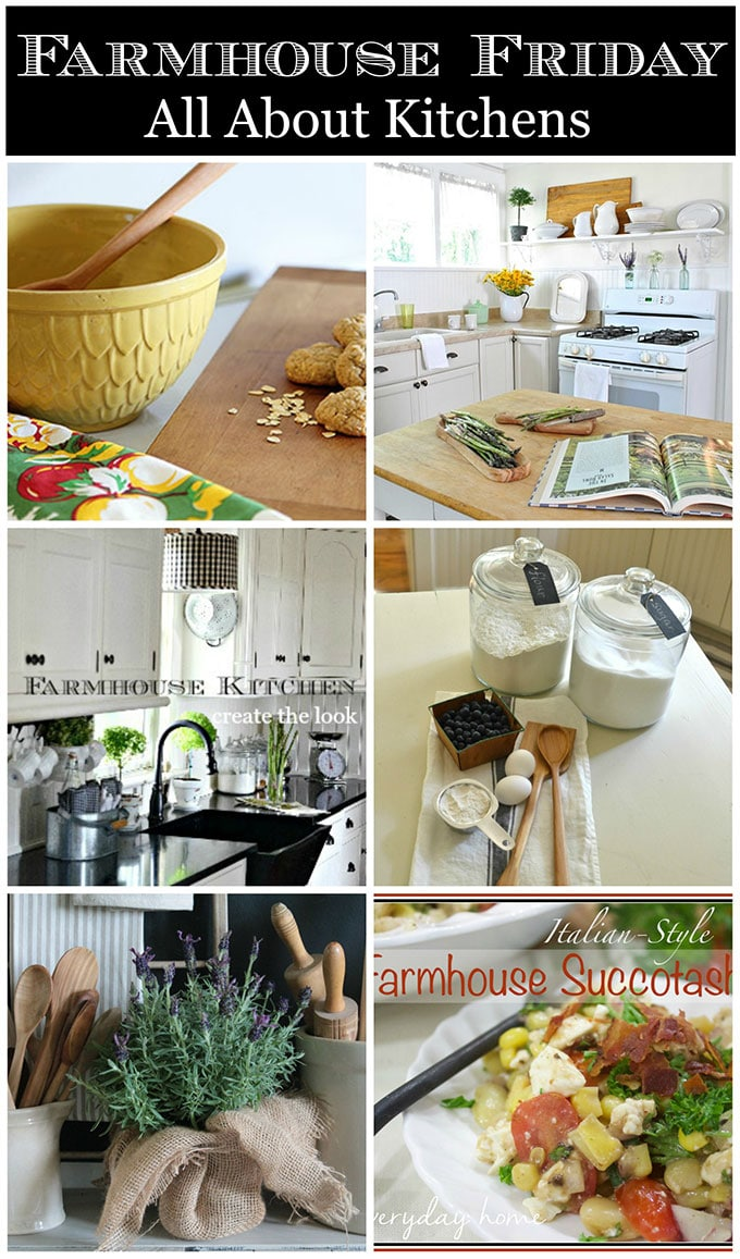 6 bloggers show how you can decorate with farmhouse decor in your very own kitchen