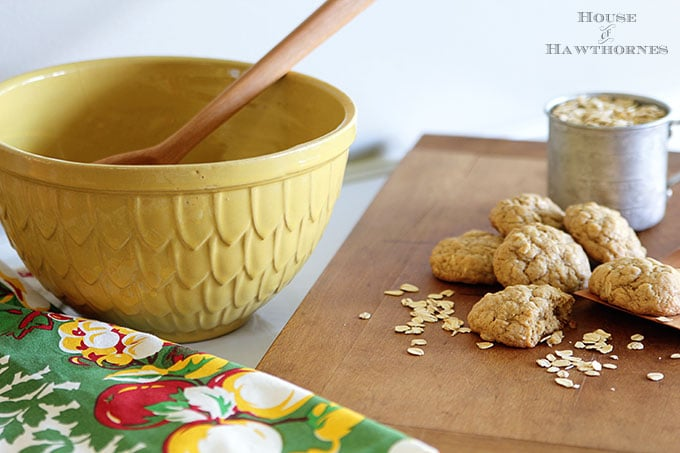 Baking cookies in a farmhouse kitchen