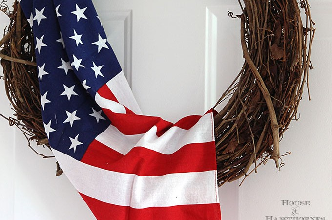 Quick And Easy 4th Of July Wreath