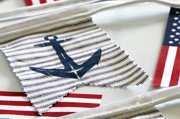 DIY Nautical Patriotic Banner