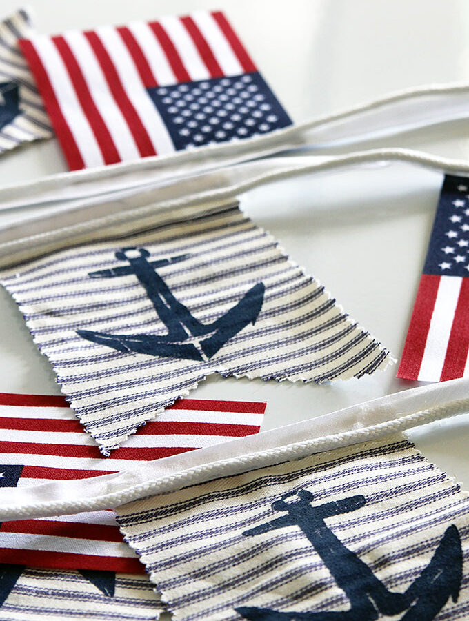 DIY Nautical Patriotic Banner